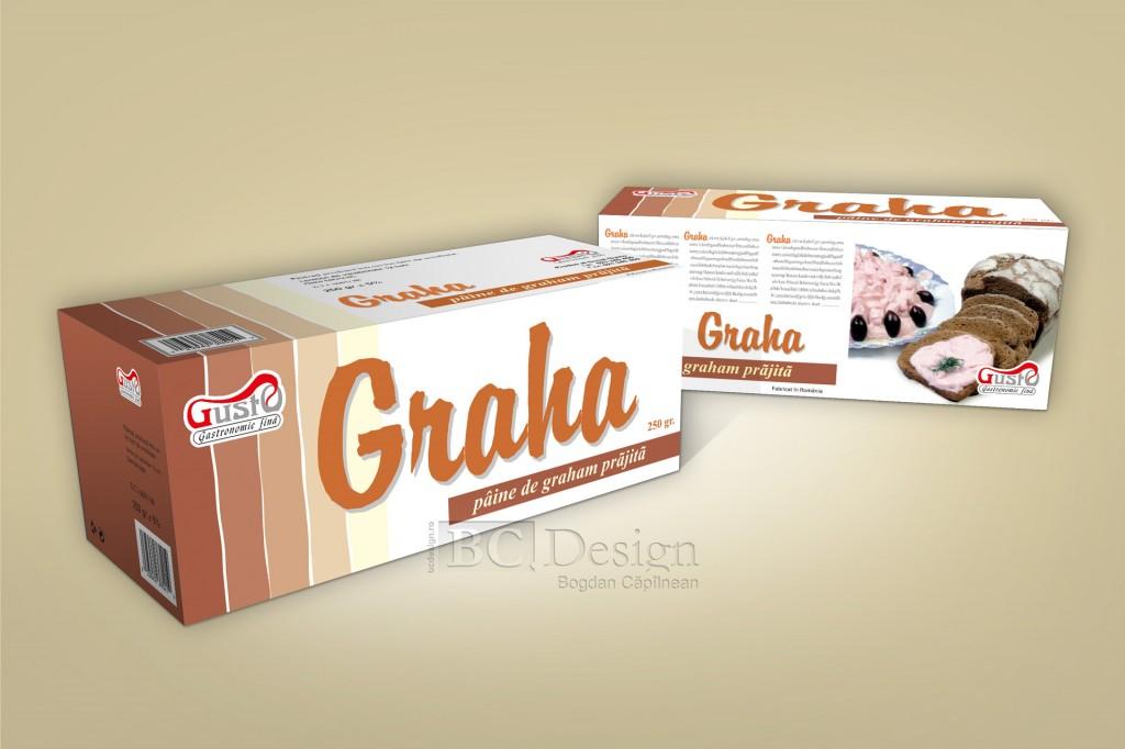 Graha - grafică ambalaj pentru pâine prăjită feliată