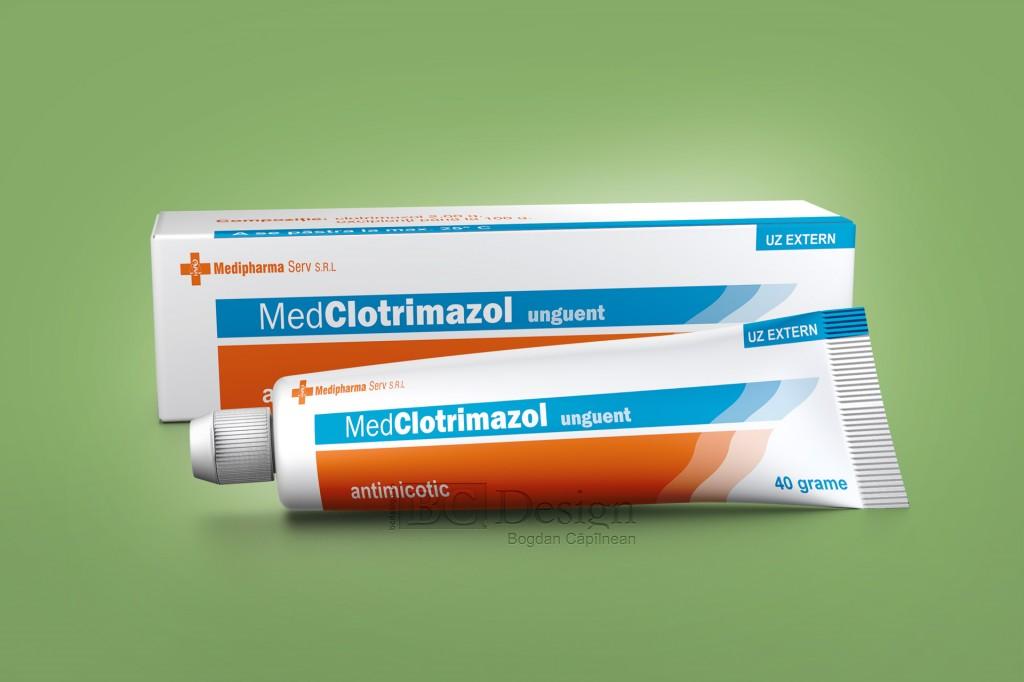 Clotrimazol unguent grafica ambalaj