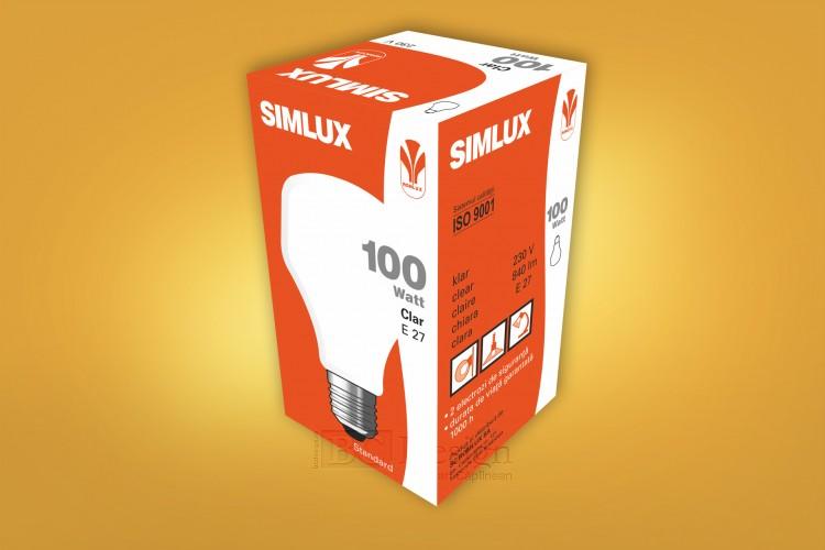 design de ambalaj bec tronconic Simlux