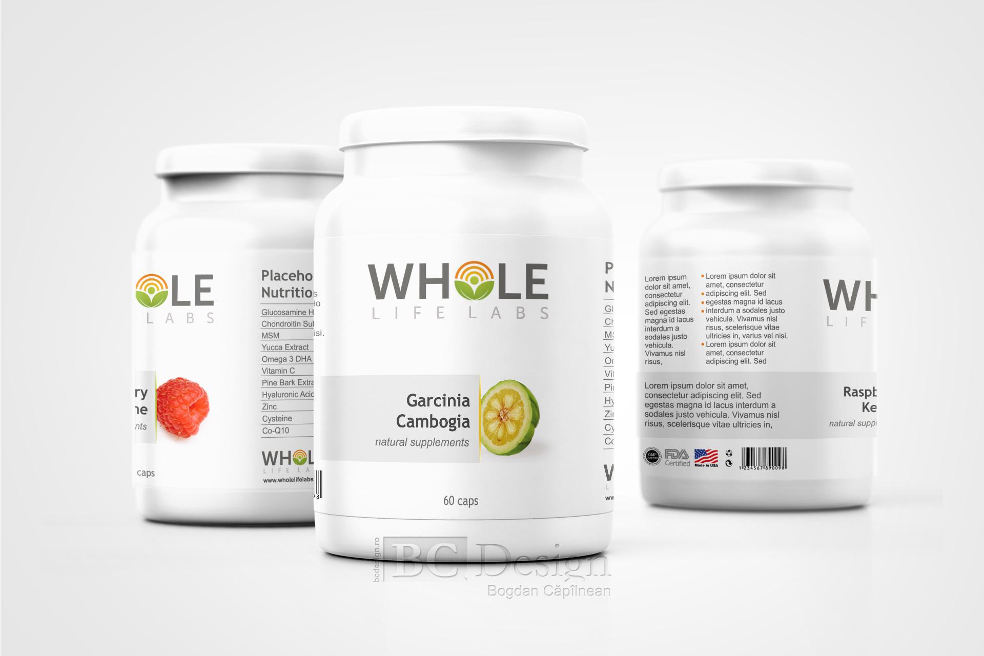 design eticheta supliment alimentar
