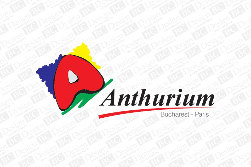 Anthurium - logo. Siglă pentru casă de modă