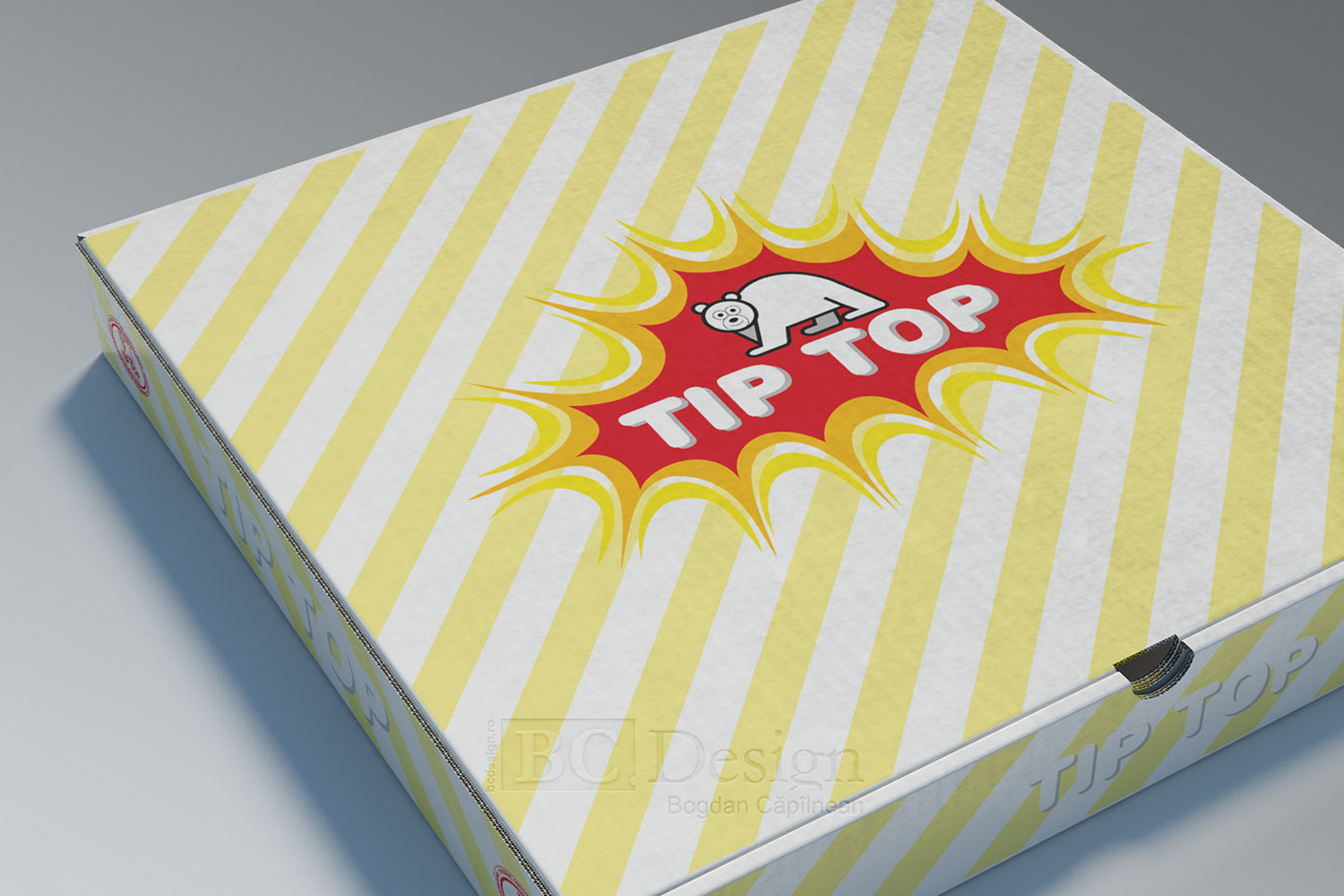 grafica ambalaj pizza tip top