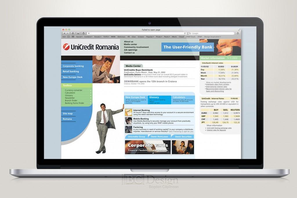 web design UniCredit Romania