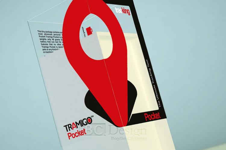 design de ambalaj pentru un dispozitiv de urmărire GPS - Tramigo