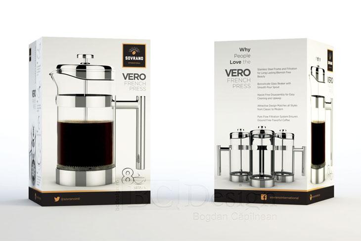 presa de cafea design de ambalaj